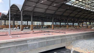 Bauarbeiten am Hauptbahnhof Halle