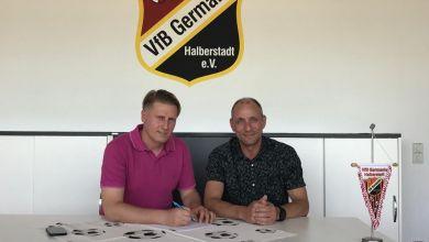 Trainer Sven Körner (links), Präsident Erik Hartmann (rechts)