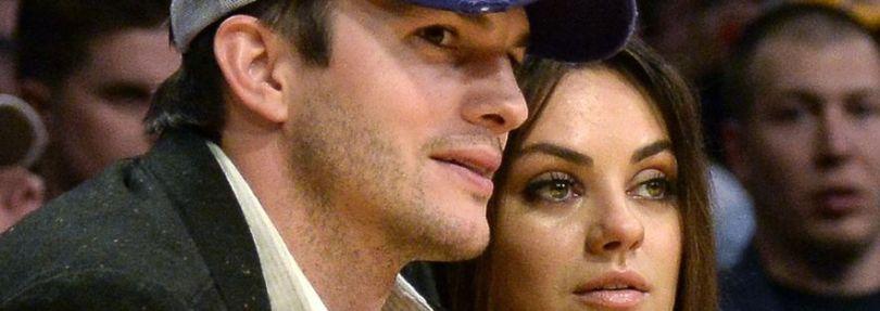 Ashton Kutcher und Frau Mila Kunis