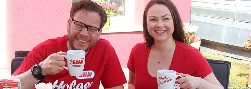 Nadine und Holger beim Frühstück