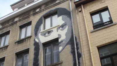 Greta Thunberg Graffiti in Brüssel
