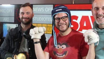 Dominic Bösel mit den radio SAW Muckefucks