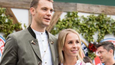Manuel Neuer und und seine Frau Nina