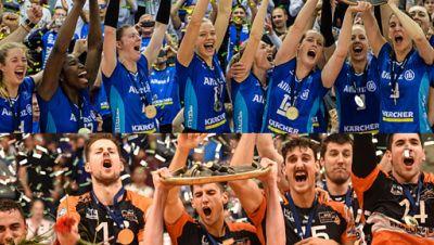 Volleyball-Meister Stuttgart und Berlin